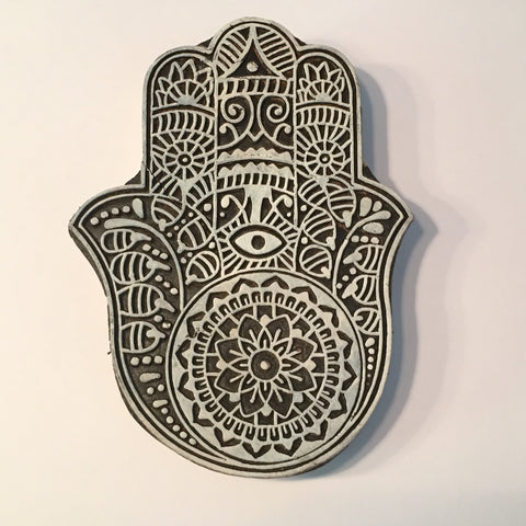 Carved printing block - Hand design