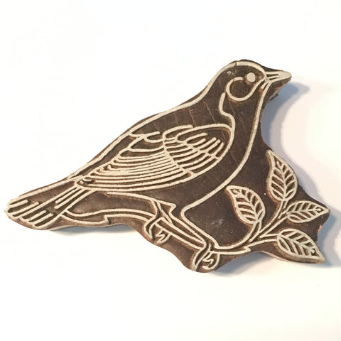 Carved printing block - Bird