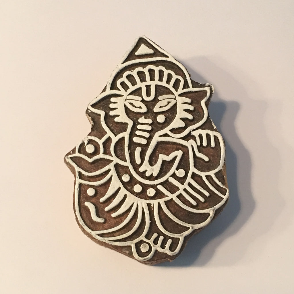 Carved printing block - Ganesh