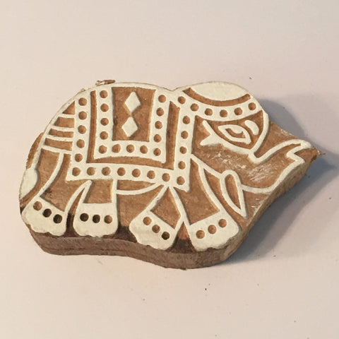 Carved printing block - small Ele