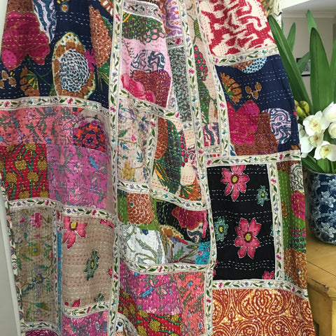 Kantha, Colourful patchwork