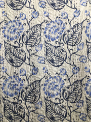 Kantha, Flowers blue & white