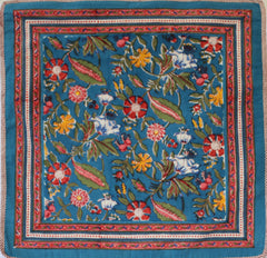 Anokhi cushion covers, Blue, red & yellow florals