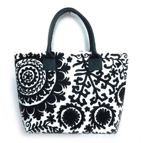 Tote Bag, Black & White