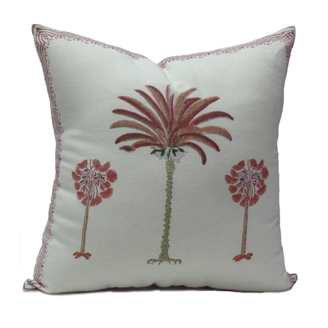 Cushion covers, Pink Palm
