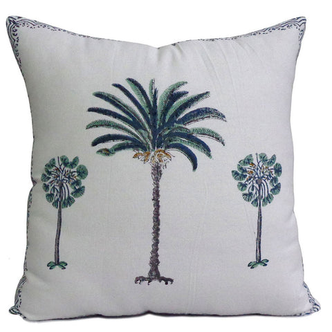 Cushion covers, Blue Palm