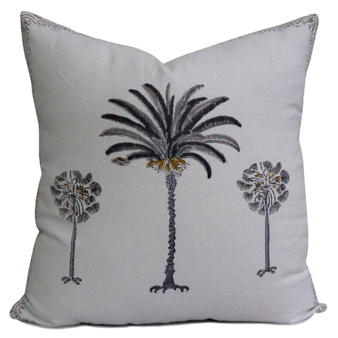 Cushion covers, Grey Palm