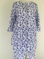 Anokhi cotton Pajamas, Flower blue