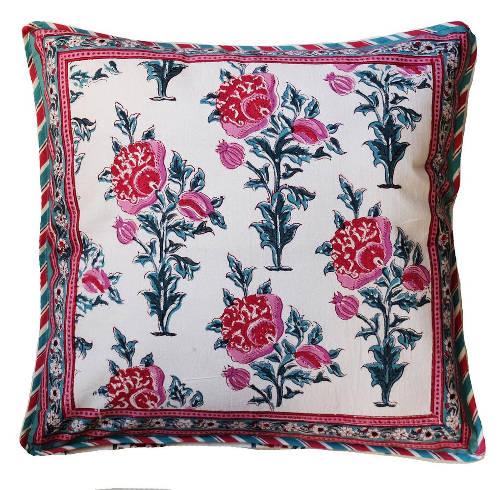 Anokhi cushion covers, Green & pink floral