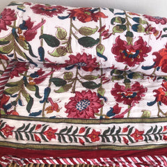 Anokhi cotton Quilt, Blue & Red florals