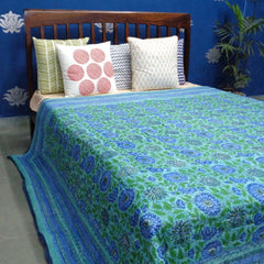 Maha Monet, block printed cotton Quilt