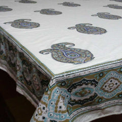 Tablecloth, Big Paisley Olive 6 - 8 seater.