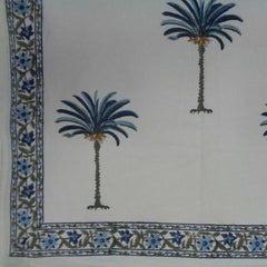 Palm Tree blue, Tablecloth