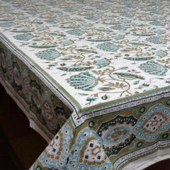 Tablecloth, Waterlilly Jade Olive 8-10 seater