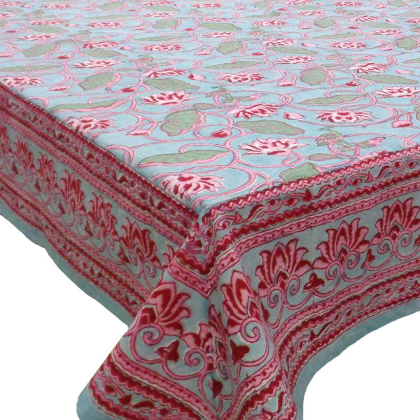 Block printed tablecloths, 8 -10 seater & 10 -14 seater.