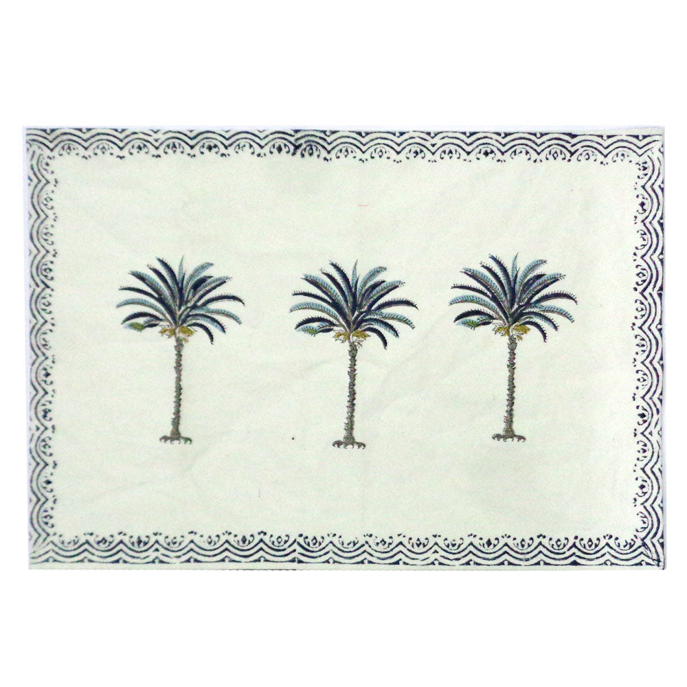 Table mats, Blue Palm