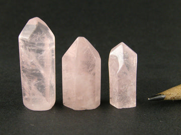 Rose quartz points