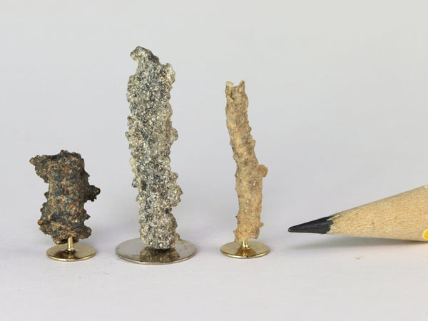 "Fulgurites, ""fused lightning"", 1:12 specimens, second view"