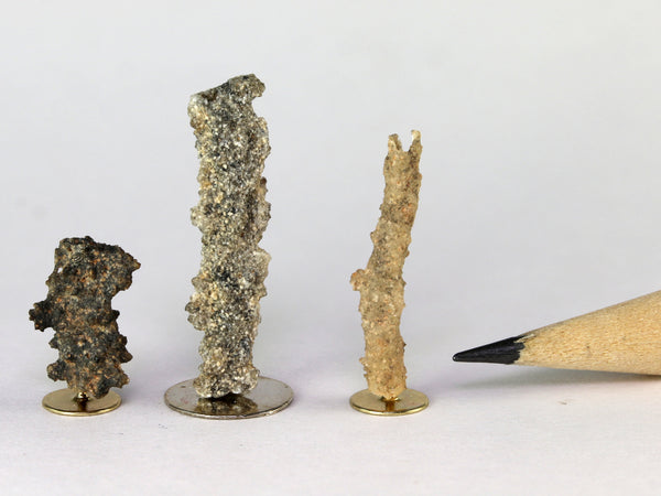 "Fulgurites, ""fused lightning"", 1:12 specimens"