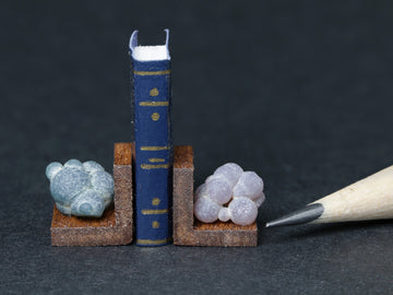 Grape agate bookends, Indonesia