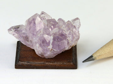 Amethyst crystals, February birthstone