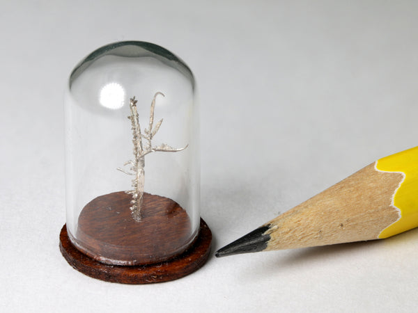 Native silver wires specimen, Australia.  1:12 dollhouse display.