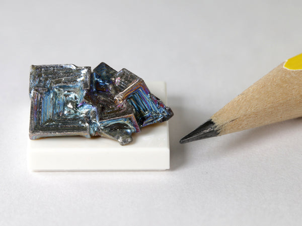 Iridescent bismuth crystal cluster, 1:12 scale display