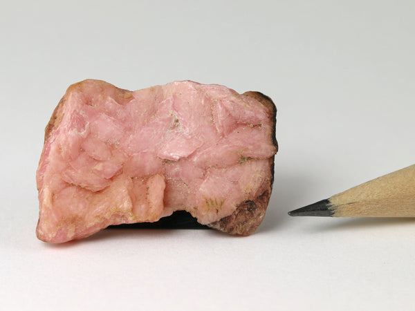 Pink rhodochrosite slab for a dollshouse scene