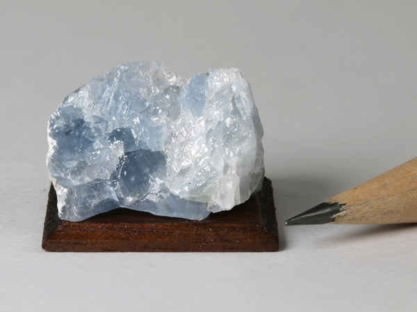 Blue calcite, New York.  1:12 or 1:6 dollhouse display.