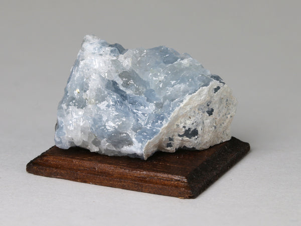 Blue calcite, New York.  Dollhouse display.