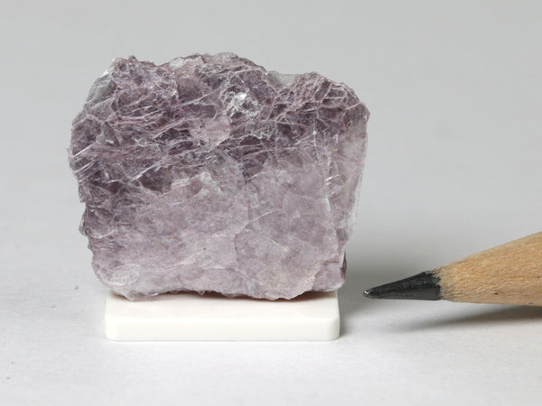 Purple lepidolite, miniature dollhouse display, 1:12 scale