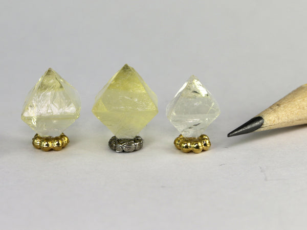 Yellow fluorite crystals, from Illinois, dollhouse miniature display