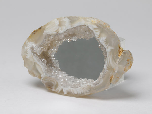Geode framed mirror, for a dollhouse, angled view