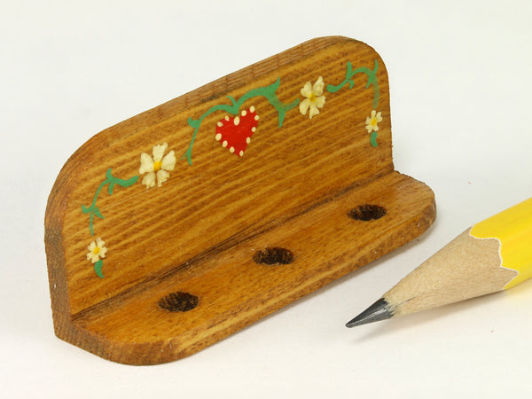 1:12 scale painted spoon rack, Hand and Heart