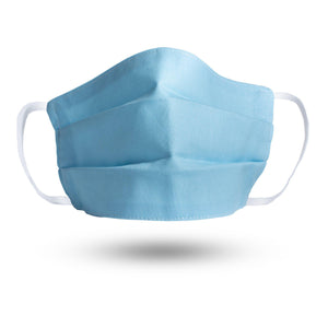 Sky Blue 100% Organic Cotton Face Mask-Stay Safe