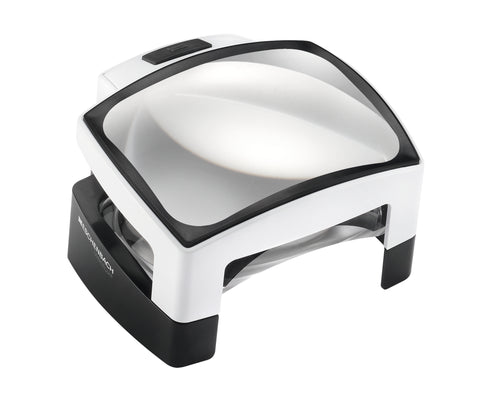 Visolux + - Large rectangular stand magnifying lens in white and black housing