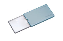 Load image into Gallery viewer, Rectangular magnifier with LED light, extended from blue casing.