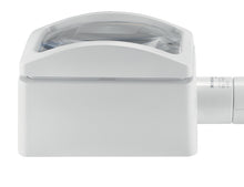 Load image into Gallery viewer, White, domed rectangular magnifier, with rectangular base