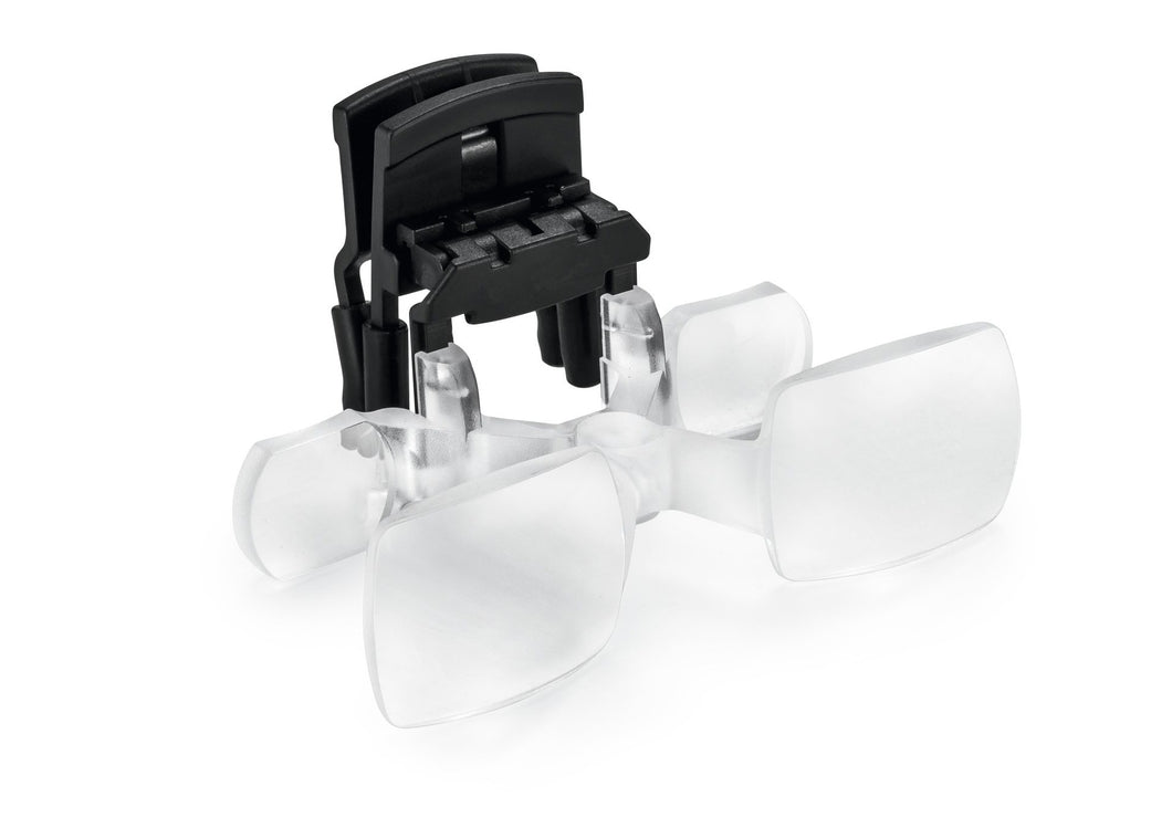 MaxDETAIL, double-lens magnifying system clip on for spectacle wearers