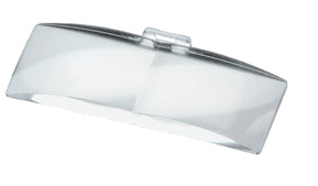 Rectangular magnifying lens
