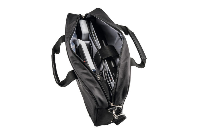 Black carrier bag for Visolux digital. With both hand and shoulder straps