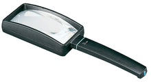 Load image into Gallery viewer, Rectangular magnifier with black casing and handle