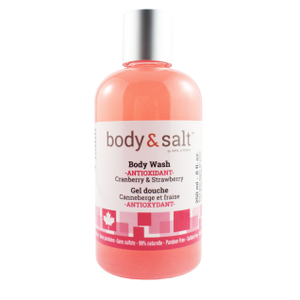 Body & Salt Antioxidant Body Wash 8oz - Cranberry & Strawberry