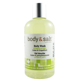 Body & Salt Stimulating  Body Wash 8oz - Lime & Grapefruit