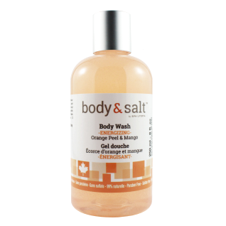 Body & Salt Energizing Body Wash 8oz - Orange Peel & Mango