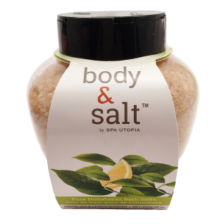Body & Salt Pure Himalayan Bath Salt - 30 oz - Green Tea and Lemon