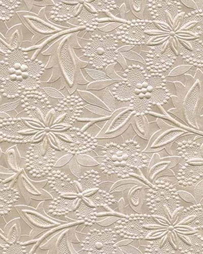 Embossed Floral Bloom Paper - Champagne