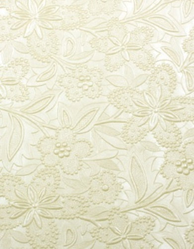 Embossed Floral Bloom Paper - Ivory