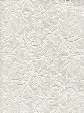 Embossed Floral Bloom Paper - OffWhite