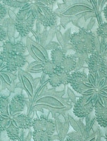 Embossed Floral Bloom Paper - Turquoise